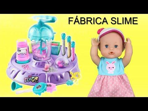 Peppa Pig en español - Fabrica de slime en español: Bebes Peppa, Elsa y Nenuco Lola hacen slime con juguetes.¿Como hacerlo?