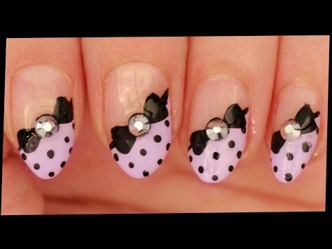 nail art con fiocchetti!