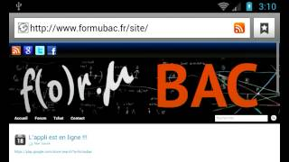 FormuBAC-demo formulaire 2012 YouTube video