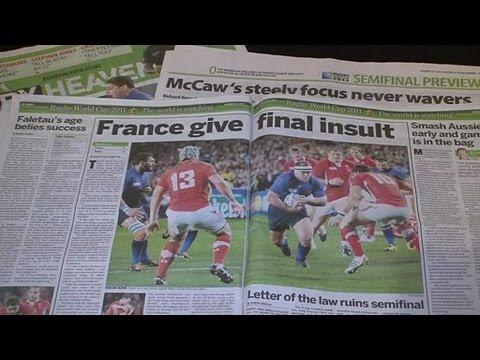 Rugby : la presse néo-zélandaise se déchaîne