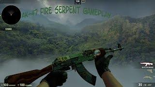 Moin Moin, Hier ist das erste Gameplay Video von einem meiner teureren Skins und es ist die AK-47 Fire Serpent Field Tested mit...