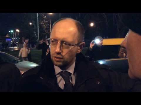 Самооборона остановила машину Яценюка и Тимошенко