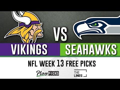 Monday Night Football NFL Week 13 - Vikings vs Seahawks | MNF Free Picks