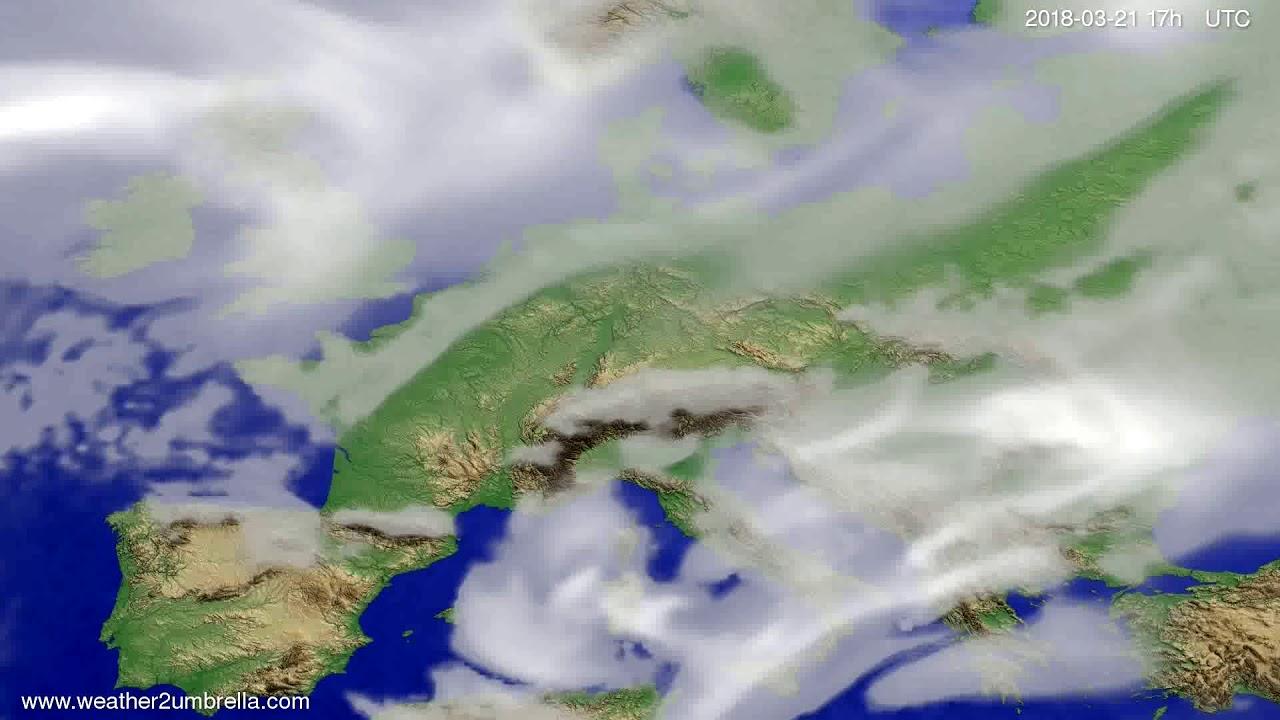 Cloud forecast Europe 2018-03-19