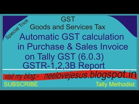 How to automatic GST calculation in Purchase and Sales invoice on Tally GST (6.0.3)