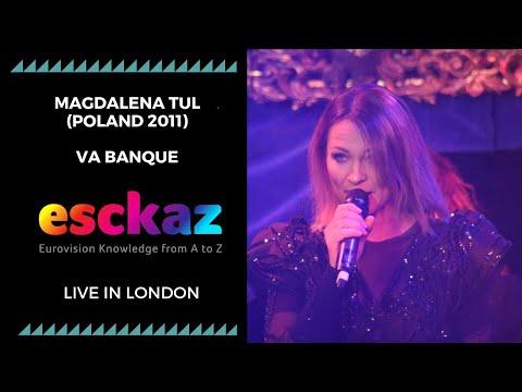 ESCKAZ in London: Magdalena Tul (Poland 2011) Va Banque (at London Eurovision Party 2019)