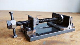Video Make A Metal Mini Drill Vise || DIY HomeMade Tool MP3, 3GP, MP4, WEBM, AVI, FLV April 2019