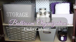 Under Bathroom Sink Organization - DIY