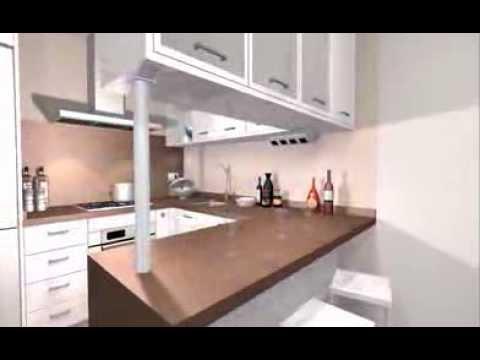 Modelo de desayunadores para apartamentos peque os for Cocinas para apartaestudios