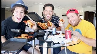 HOT CHICKEN MUKBANG WITH DAVID DOBRIK AND JONAH!!
