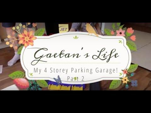 Garage Playset | Gaetan Plays with car Garage |Gaetan's Life