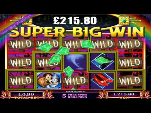 £239.85 MEGA BIG WIN  (266 X STAKE) ON WIZARD OF OZ™ SLOT GAME AT JACKPOT PARTY®