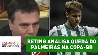 Comentarista Mauro Beting, da Rádio Jovem Pan, repercutiu a eliminação do Palmeiras para o Cruzeiro nas quartas de final da...
