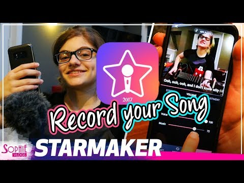 Starmaker - Karaoke App - How To Record Your First Song (by Sophie Pecora)