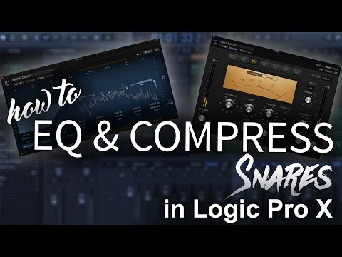 How to EQ and Compress Snares in Logic Pro X   Beat Maker Tutorial