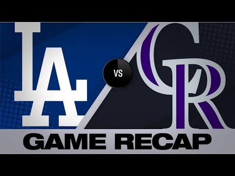 Video: Gray dominates in Rockies' 9-1 win | Dodgers-Rockies Game Highlight 7/29
