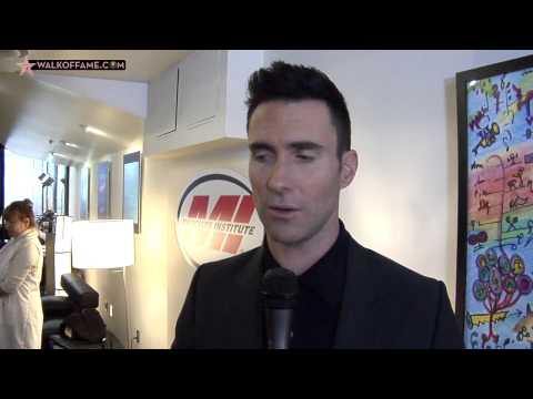 Adam Levine Walk of Fame Ceremony
