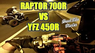 8. � ATV STREET RACING YAMAHA RAPTOR 700R VS YFZ 450R