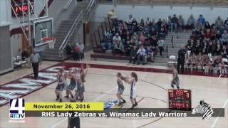 RHS Girls Basketball vs. Winamac Warriors