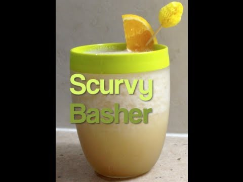 Scurvy Basher Alcoholic Refreshing Cocktail Video Recipe cheekyricho