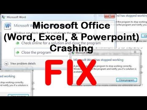 Microsoft Office (Word, Excel, & Powerpoint) Crashing FIX | H2TechVideos