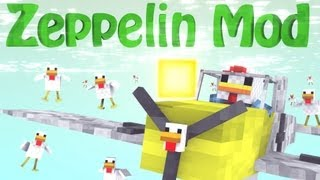 AirCrafts: Minecraft Zeppelin Mod Showcase - Fly Anything!