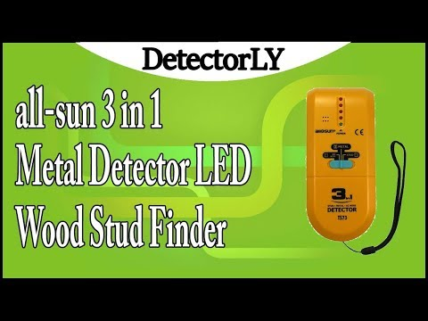 all-sun 3 in 1 Metal Detector LED Wood Stud Finder AC Wire Tracker Review