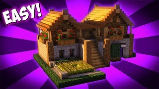 Minecraft: How To Build A Survival Starter House Tutorial ( 2017)