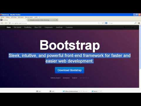 comment installer bootstrap