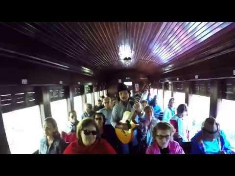 Excursão para Passa Quatro MG - Violeiro cantando no Trem Maria Fumaça