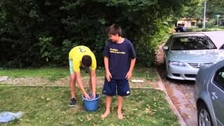 """Carter challenges Theo Katzman & his best friend Conor for the Ice Bucket Challenge!!  http://www.alsa.org/news/archive/als-ice-bucket-challenge.htmlIn the last two weeks, the Ice Bucket Challenge has quite literally """"soaked"""" the nation. Everyone from Ethel Kennedy to Justin Timberlake has poured a bucket of ice water over his or her head and challenged others do the same or make a donation to fight ALS within twenty-four hours.Between July 29 and today, August 12, The ALS Association and its 38 chapters have received an astonishing $4 million in donations compared to $1.12 million during the same time period last year. The ALS Association is incredibly grateful for the outpouring of support from those people who have been doused, made a donation, or both. Contributions further The Association's mission to find a cure for ALS while funding the highest quality of care for people living with the disease."""