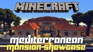 Minecraft: Mediterranean Mansion on PC w/ Shaders! (House Tours of Danville PC Ep.1)