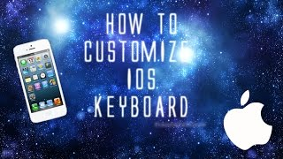 Toady we show you how to customize your IOS keyboard using the app 'Kiwi' Thanks for watching!