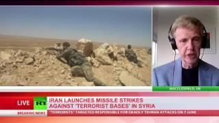 Iran's Revolutionary Guards have launched a mid-range ballistic missile attack on terrorist positions in the Syrian province of Deir-ez Zor in retaliation for terrorist ...