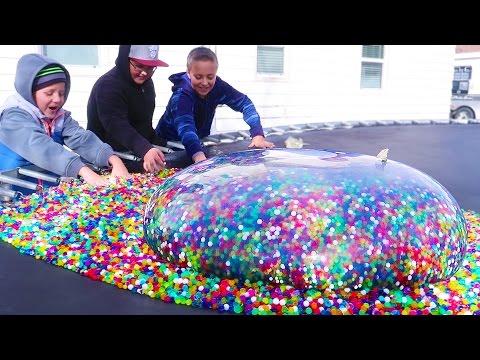 Giant Orbeez Water Balloon? What Happens?!