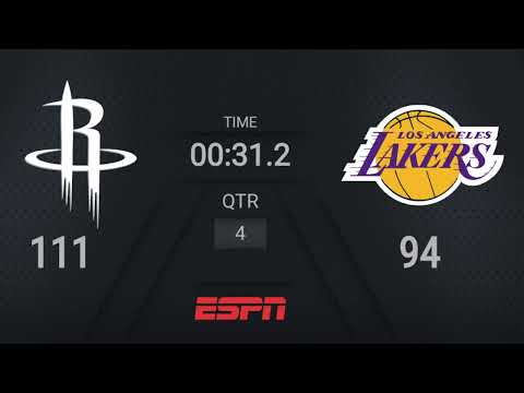 Rockets @ Lakers | NBA on ESPN Live Scoreboard | #WholeNewGame