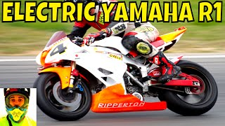 Video 210kW Racing Electric Yamaha R1 vs Petrol Bikes (race track) • Ripperton DIY Electric Motorcycle MP3, 3GP, MP4, WEBM, AVI, FLV Desember 2018