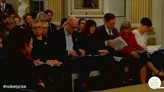 Przemówienia Olgi Tokarczuk – tegorocznej laureatki nagrody Nobla w dziedzinie literatury.