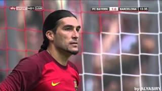 Lahm trifft per Kopf gegen den FC Barcelona