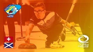 Switzerland v Scotland - Men's Round-robin - World Junior Curling Championships 2019