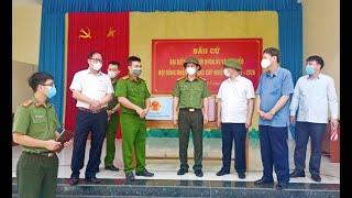 Đoàn công tác số 3 Tiểu ban ANTT - Y tế - Hậu cần thuộc Ủy ban Bầu cử tỉnh kiểm tra, làm việc tại thành phố Uông Bí