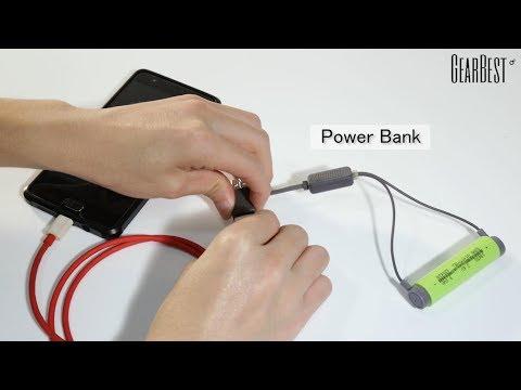Folomov A1 18650 / 21700 / 26650 / Li-ion Battery Magnetic USB Charger - GearBest.com