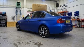BMW Blue Vinyl Wrap
