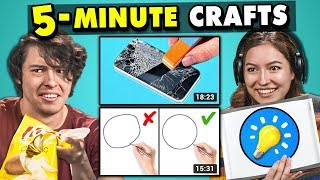 Video Adults React To And Try 5-Minute Crafts (Do They Work?) MP3, 3GP, MP4, WEBM, AVI, FLV Juli 2019