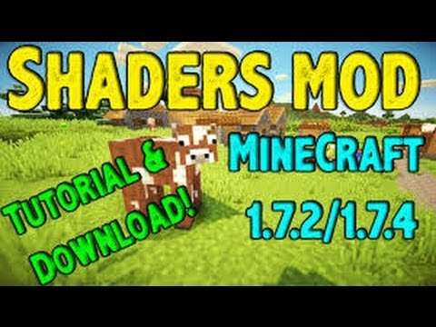 Shaders Mod With Optifine! Minecraft 1.7.2/1.7.4 - Tutorial + Download (видео)