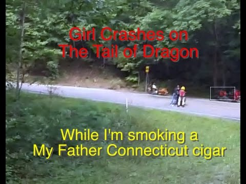 Girl Crashes on Tail of Dragon