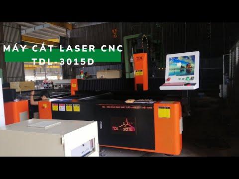 Máy cắt fiber laser cnc bàn đôi sản xuất tại Cty Toàn Đắc Lộc