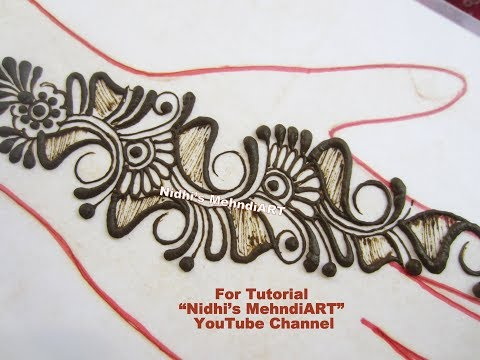 Video Simple Arabic Strip Mehndi Designs for Hand- Arabic Shading Mehndi ART download in MP3, 3GP, MP4, WEBM, AVI, FLV January 2017