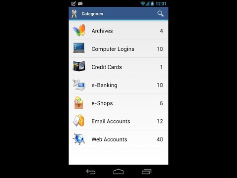 Video of aWallet Password Manager