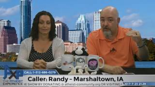 The Atheist Experience episode 21.29 for July 23, 2017 with Matt Dillahunty and Tracie Harris. Call the show on Sundays ...